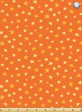 Susybee LEIF / BARRON Bear Yellow Orange Star Quilt Fabric by 1/2 yd