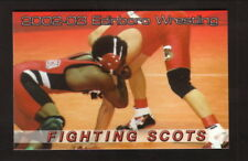 Edinboro Fighting Scots--2002-03 Wrestling Pocket Schedule--Joe B's Carpet