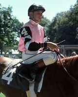 Triple Crown Jockey STEVE CAUTHEN Glossy 8x10 Photo Affirmed Print Horse Racing