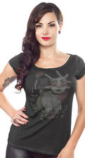 130496 The Raven Tattooed Pinup Sourpuss Shirt Top Traditional Retro SMALL