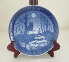 1974 Royal Copenhagen Winter Twilight Owl Collector's Plate - Denmark