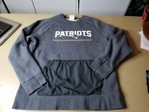 Nike NFL New England Patriots Pullover Sweater Gray Therma Fit Mens Sz XL