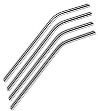 6 X Bent Stainless Steel Reusable Straws Metal Drinking Straw Stylish