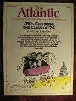 ATLANTIC Magazine March 1989 William Schneider Steven Zak Patricia Henley