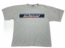 Vintage 90s Tommy Hilfiger Mens Crew Neck Short Sleeve T Shirt Gray Size XXL