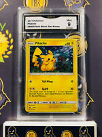 Pikachu SM86 GMA Graded 9 MINT Promo Holo Rare Pokemon Card (Like PSA)