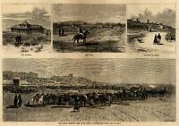 Indian Question reservation Red Cloud Agency Fort Sill 1876 wood engraved print