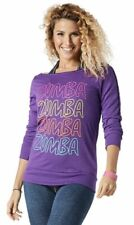 Zumba - Throwback Retro Headliner Top - Perfect in Purple - size X-Small (B169)