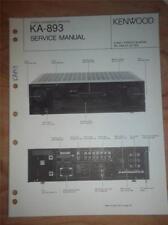 Kenwood Service Manual~KA-893 Amplifier/Amp~Original Repair Manual
