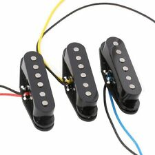 1Set Black Alnico 5 Alnico V Single Coil Pickup SSS for Strat Style Guitar