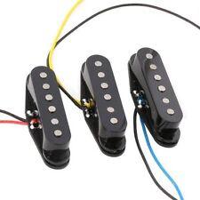 1Set Black Alnico 5 Alnico V Single Coil Pickup SSS for Strat Style Guitar