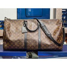 LOUIS VUITTON M56714 Monogram Macassar Keepall Bandouliere 55 Luggage Travel Bag