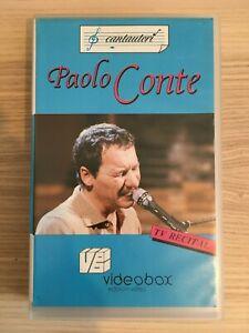 Paolo Conte _ Tv Recital _ VHS Pal _ 1989 VideoBox 01125 RTSI Lugano RARA!