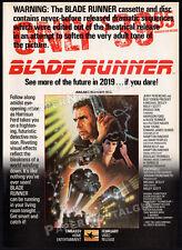 BLADE RUNNER__Vintage 1983 Print AD / original video promo advert__HARRISON FORD