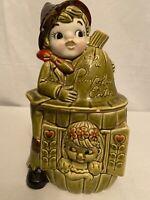 "Vintage1950's Mid-Century ""Peter The Pumpkin Eater"" Ceramic Cookie Jar - JAPAN"