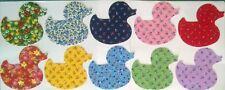 Country Flora Ducks Large fabric Pack remnant patchwork bundle 100% cotton