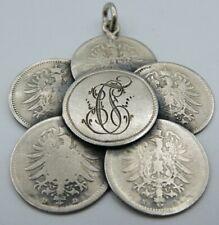 Anhänger echt Silber Münzen/Charivari/Tracht/Trachtenschmuck