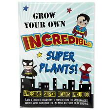 Grow Your Own Magic Superhero Beans Laser Engraved Messages Kids Gardening Gift