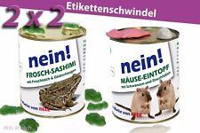 ►4er Set► Konserven Überraschung Geschenkidee Dosen Blechdose Frosch Mäuse Gag