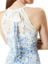 HOBBS Maxi White Blue Floral Alexis Dress-Size 14UK-BNWT-RRP £159-Wedding,Party