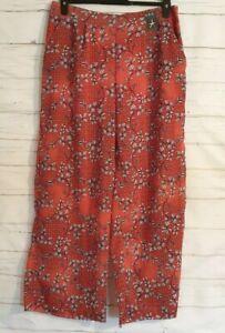 BNWT Size 14 Summer Holiday Trousers Palazzo Pants ORANGE Sheer Elasticated
