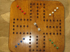 AGGRAVATION / WAHOO GAME - FOUR PLAYER SQUARE WOODEN GAME BOARD