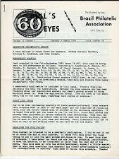 Aps Brazil Philatelic Association Bull's Eyes Stamp Newsletter Lot/10 1984-1989