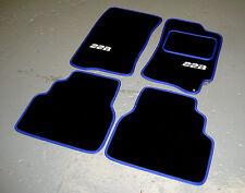 Negro/Azul SUPER VELVETÓN Alfombras De Coche Subaru Impreza Clásico 92-00 + 22B