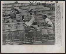 1957 Original Baseball Wire Photo - The Try That Failed (Elston Howard)
