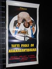 ★ Manifesto Locandina TUTTI FIGLI DI MAMMASANTISSIMA Muti Poster Playbill ★