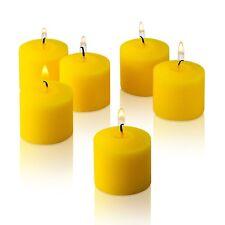 10 Hour Citronella Yellow Votive Candles Set of 12