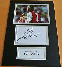 PATRICK VIEIRA HAND SIGNED AUTOGRAPH A4 PHOTO DISPLAY ARSENAL PERFECT GIFT & COA