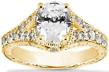 1.01 ct Oval Diamond Solitaire Engagement Ring 14K Yellow Gold I SI 1.45 tcw