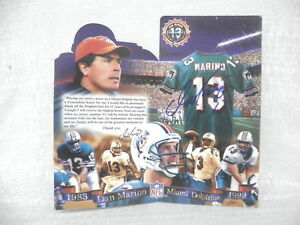Dan Marino Signed Autographed Miami Dolphins Fold Out 9/17/00 Mounted Memories