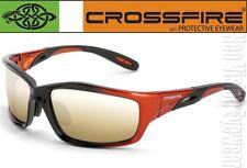 Crossfire Infinity Gold Mirror Black Orange Safety Glasses Sunglasses Z87+
