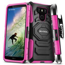 LG G6 Case, Evocel Rugged Dual Layer Holster Case with Kickstand & Belt Clip