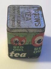 Vintage Liptons Tea Red Owl Tea Tin