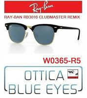 Occhiali da SOLE RAYBAN RB3016 CLUBMASTER REMIX R5 Sunglasses Ray Ban Black GREY