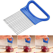 Kitchen Stainless Steel Onion Holder for Chopping Potato Tomato Slicer Cutter