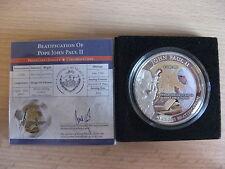 PALAU 2011 John Paul II Beatification 1 dollar UNC box CoA #610