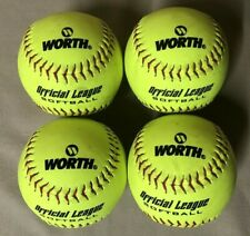 "4 Worth Ywcs11 Official League Softballs 11"" Recreational / Practice"