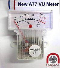 Revox A77 VU meters - newly manufactured and improved. A77 mk3 mk4.