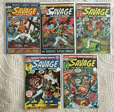 Bronze Age lot of 5 DOC SAVAGE Comics #1 VF 2 FN/VF  3 FN-  5 VF+  6 VF