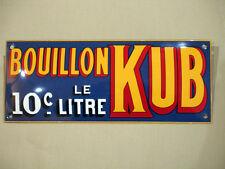 PLAQUE TOLE EMAILLEE bombee BOUILLON KUB 10 c Le Litre  création originale