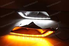 White/Amber Led Daytime Running light Drl Fog Lamps For Ford Ranger 2015 16