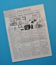 1938 Indian Scout Chief Harley Motorcycle Accessory Catalog EL ES U UL US UH