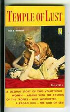 TEMPLE OF LUST by Thompson, rare US Beacon #B240 sleaze cult gga pulp vintage pb