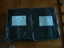 "Pottery Barn Kids 2 Dark Brown Brushed Twill Panels 84X44""Gorgeous Rich Brown"