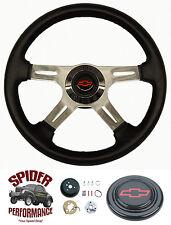 "1967-1968 Chevelle Malibu El Camino steering wheel RED BOWTIE 14"" FOUR SPOKE"