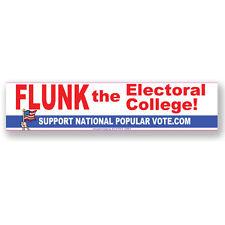 CS268-B - FLUNK the Electoral College Color Sticker